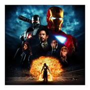 Iron Man. Размер: 60 х 60 см